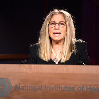 Barbra Streisand delivers the Rall Cultural Lecture at NIH.