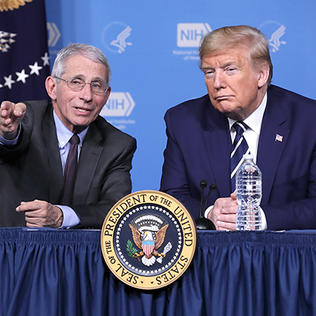 Dr. Fauci and president