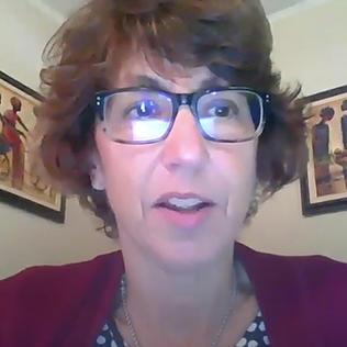 Dr. Erbelding on video screen