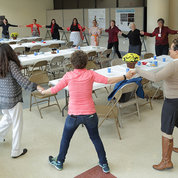 Guests celebrate Native American Heritage Month with a round dance. PHOTO: ERNIE BRANSON