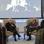 Dr. Glass speaks with Peace Corps director.