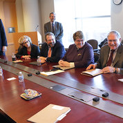 The NIH leadership meets with the congressional delegation.  PHOTO: ERNIE BRANSON