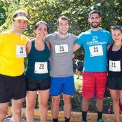 Placing second was NICHD's Running Gels (from l) Fabio R. Faucz, Laura C. Hernández-Ramírez, Giampaolo Trivellin, Andreas Giannakou and Edra London.  PHOTO: MARLEEN VAN DEN NESTE