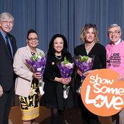 Collins and Koroshetz with Debra Gale, Monica Hanson and Christine Brake.
