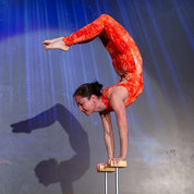 NLM's Moira Lee earns 10s from all three judges for this feat of strength, flexibility and balance.