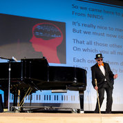 Third-place went to NINDS director Dr. Walter Koroshetz and deputy director Dr. Nina Schor—The Oligos—who mesmerized the audience with The Mighty Brain. PHOTO: MARLEEN VAN DEN NESTE
