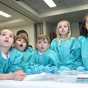 Kids looks on in astonishment at the CC's Fantastic Voyage event. PHOTO: CHIA-CHI CHARLIE CHANG