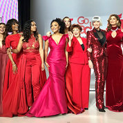 "Star studded. Celebrities take to a New York City runway on Feb. 8 for the American Heart Association's annual ""Go Red for Women"" Red Dress Collection. PHOTO: NICHELLE LEWIS/NHLBI"