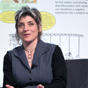 Artist and author Ellen Forney served as guest curator of the NLM graphic medicine exhibition. PHOTO: CHIA-CHI CHARLIE CHANG