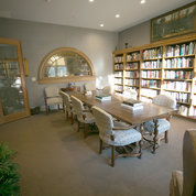 A view of the new table and other furnishings in the redone lodge library PHOTO: FOUNDATION FOR THE NIH