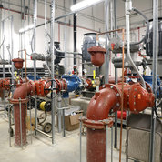 Water pumps inside the IWSS. PHOTO: CHIA-CHI CHARLIE CHANG