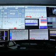 The CUP control center with a wall of monitors relaying system performance information. PHOTO: CHIA-CHI CHARLIE CHANG