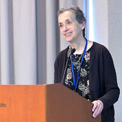 NINDS deputy director Dr. Nina Schor gives remarks. PHOTO: MARLEEN VAN DEN NESTE