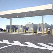 Rendering of the new gas station located in lot 41 south of Bldg. 41