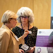 Several exhibits highlighted NIH-supported rare diseases research. Panelists discuss non-traditional approaches to improving access for rare diseases. PHOTOS: PHOTOS: JONATHAN FROST, MEGAN SCHARTNER