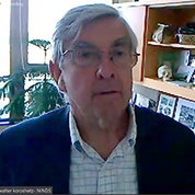 screen capture of NINDS director Dr. Walter Koroshetz