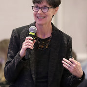 NCCIH director Dr. Helene Langevin makes a comment during a panel discussion. PHOTO: CHIA-CHI CHARLIE CHANG