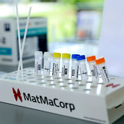 MatMaCorp's portable mini-lab can rapidly perform multiple RT-PCR assays. PHOTO: CHIA-CHI CHARLIE CHANG