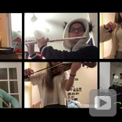 """Video of the Post-Bachs performing """"A Whole New World"""" from Disney's Aladdin, featuring Shridhar Singh on piano, Jennifer Fang on violin 1; Iris Feng on violins 1 and 2, Benowitz on flute and Faysal Shaikh on guitar."""